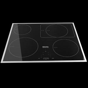 3d miele modern cooktop model