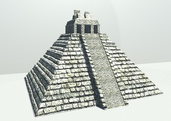 temples mayan 3d model