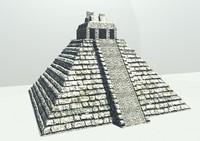3d temples mayan