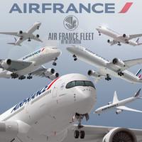 3d model air france fleet