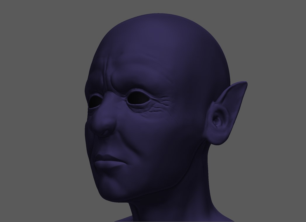 3d 3ds fantasy character head