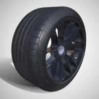 3d model pbr michelin pilot super sport