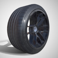 pbr michelin pilot super sport 3d model