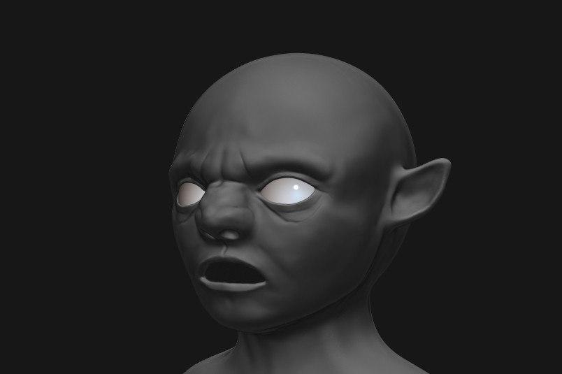 troll head 3d 3ds