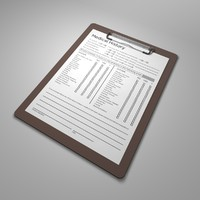3d clipboard medical