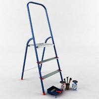 3d ladder paint brushes