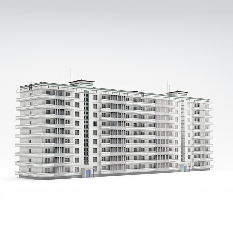 3d model soviet housing