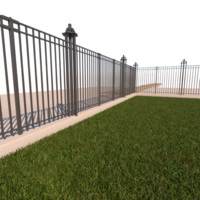 security fence gate 3ds