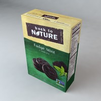 3d model box nature fudge mint