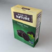 3d model box nature fudge mint
