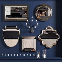 3d mirrors shapes interiors model