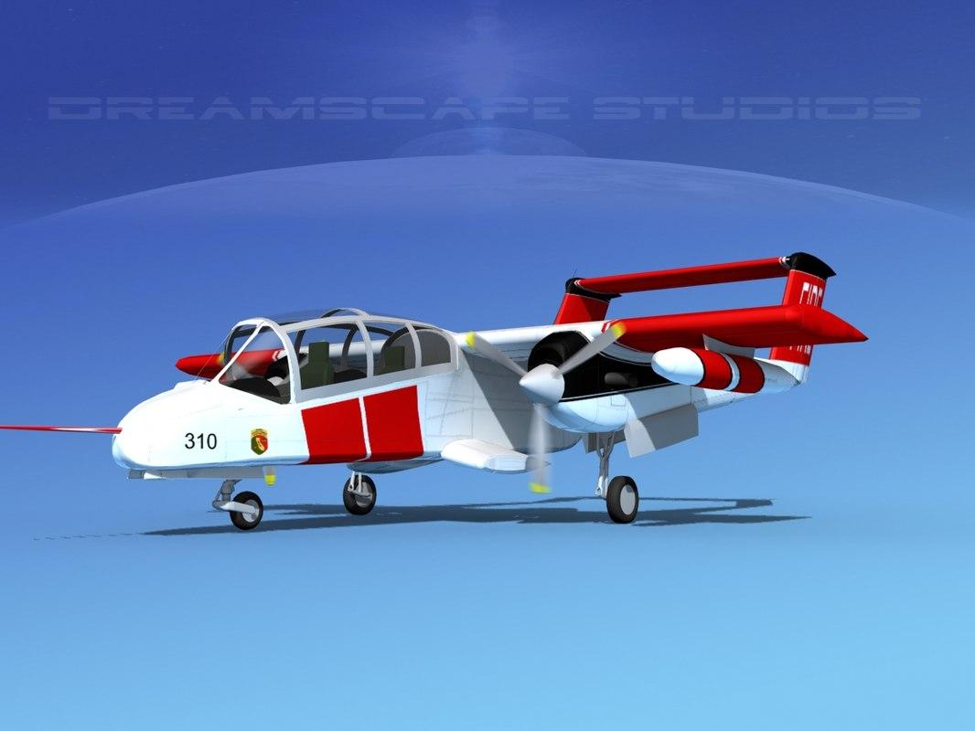 3d model propellers rockwell ov-10 bronco