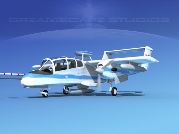 3ds propellers nasa rockwell ov-10 bronco