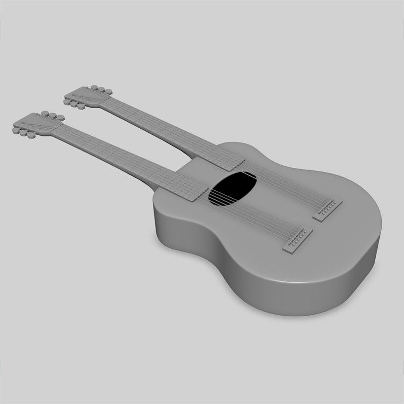double neck guitar fbx
