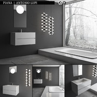 3d bathroom furniture set piana