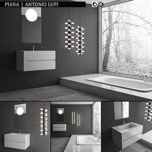 bathroom furniture set piana 3d ma