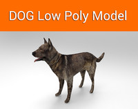 3d model of dog ready