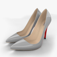 realistic stiletto shoes 3d model