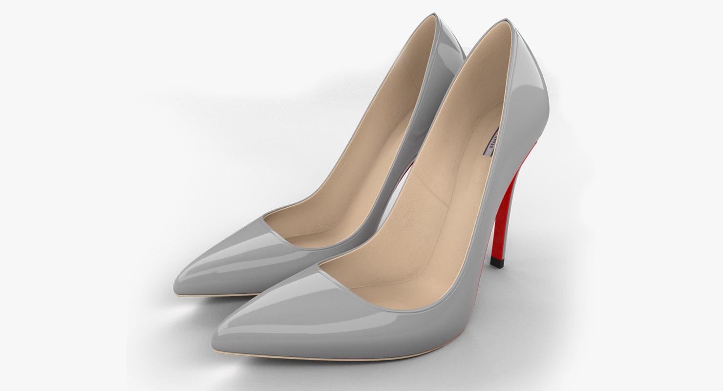 realistic stiletto shoes 3d model