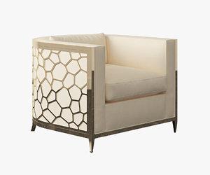 jacques armchair 3d model