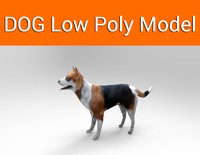 3d model dog ready
