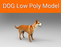 dog game ready low poly model(1)