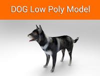 3d dog ready model