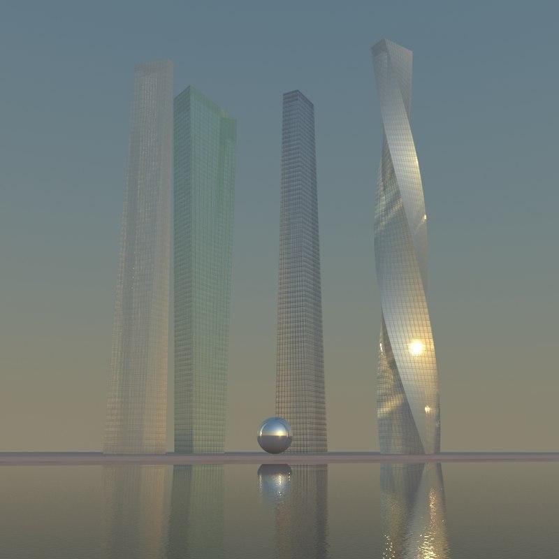 3d model skyscrapers cities