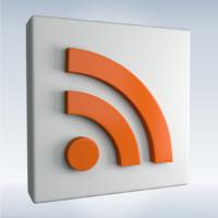 social rss feed 3d model