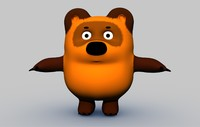 russian bear winnie pooh 3d model