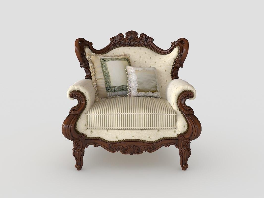 3d chair 2 model