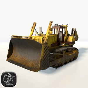 3d model of bulldozer dozer