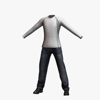 mens clothing 22 3d model