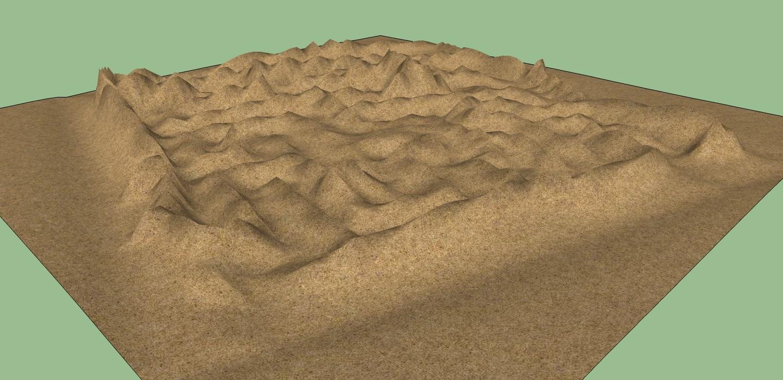 3d mountains maze