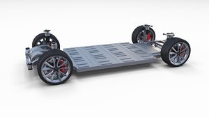 obj tesla 3 chassis