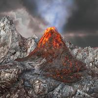volcano environment 3d max