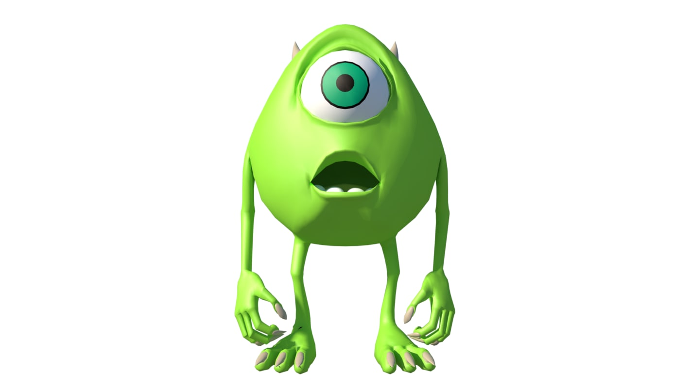 3d model mike wazowski