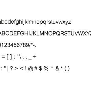 3d model cordia new font cg