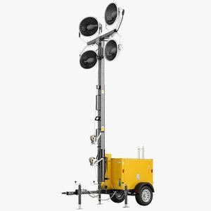 3d light tower mast model