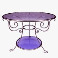 3d patterned glass table model