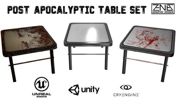 tables post apocalyptic fbx