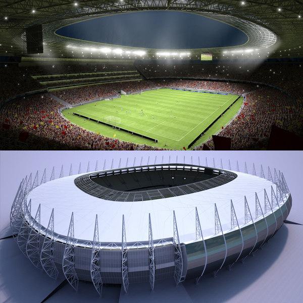 3d model of soccer stadium