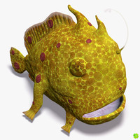 antennarius fish frogfish animation rig 3d blend