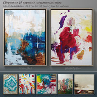 The collection of contemporary paintings set-4