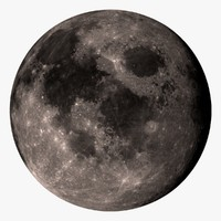 3d model moon 32k