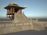 pillar pagoda 3d x