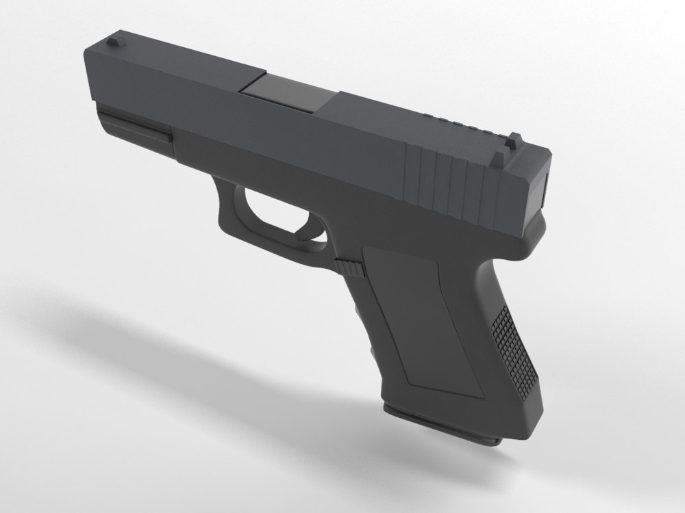 3d glock pistol model