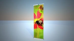 3d stand torsion unilateral advertising
