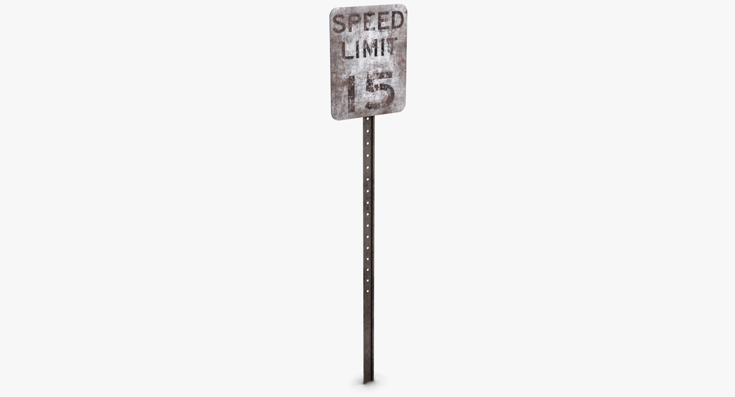 c4d old road sign -