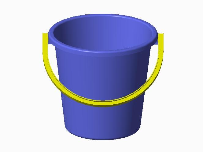 plastic bucket 3d ige